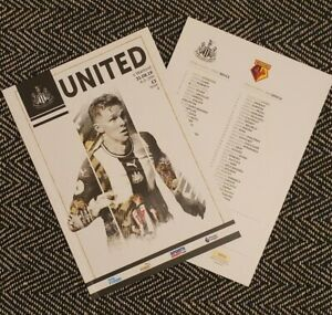 Newcastle-United-v-Watford-Matchday-Programme-31-8-2019-FREE-UK-DELIVERY