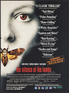 THE SILENCE OF THE LAMBS__Original 1991 Trade Print AD / ADVERT__JODIE FOSTER