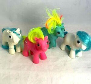 Lot Vintage G1 My Little Pony Baby MLP Beddy Bye Eyes Unicorn Bear Bow Shades