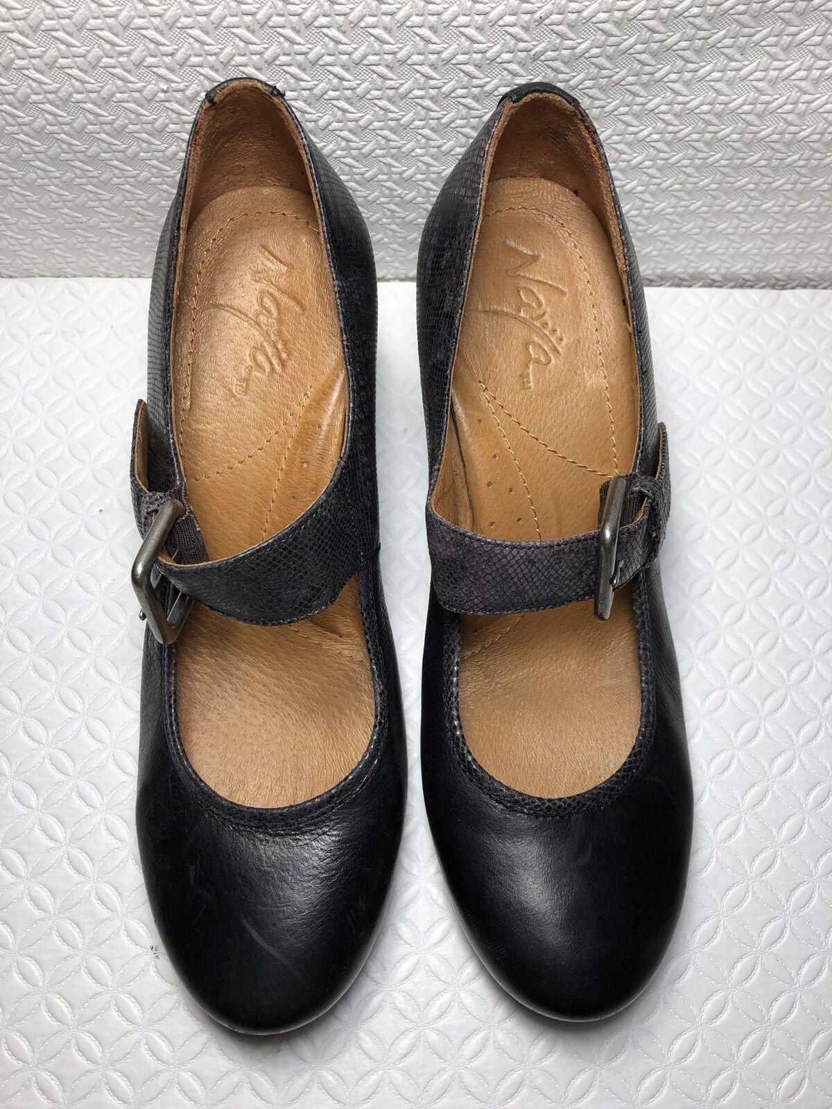 Naya jacinia femmes noir Cuir Plate-forme à Enfiler Mary Jane Taille - 8.5 M