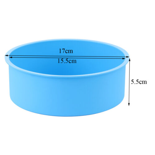 4//6inch Silicone Round Cake Pan Tins Non-stick Baking Mould Bakeware Tray US