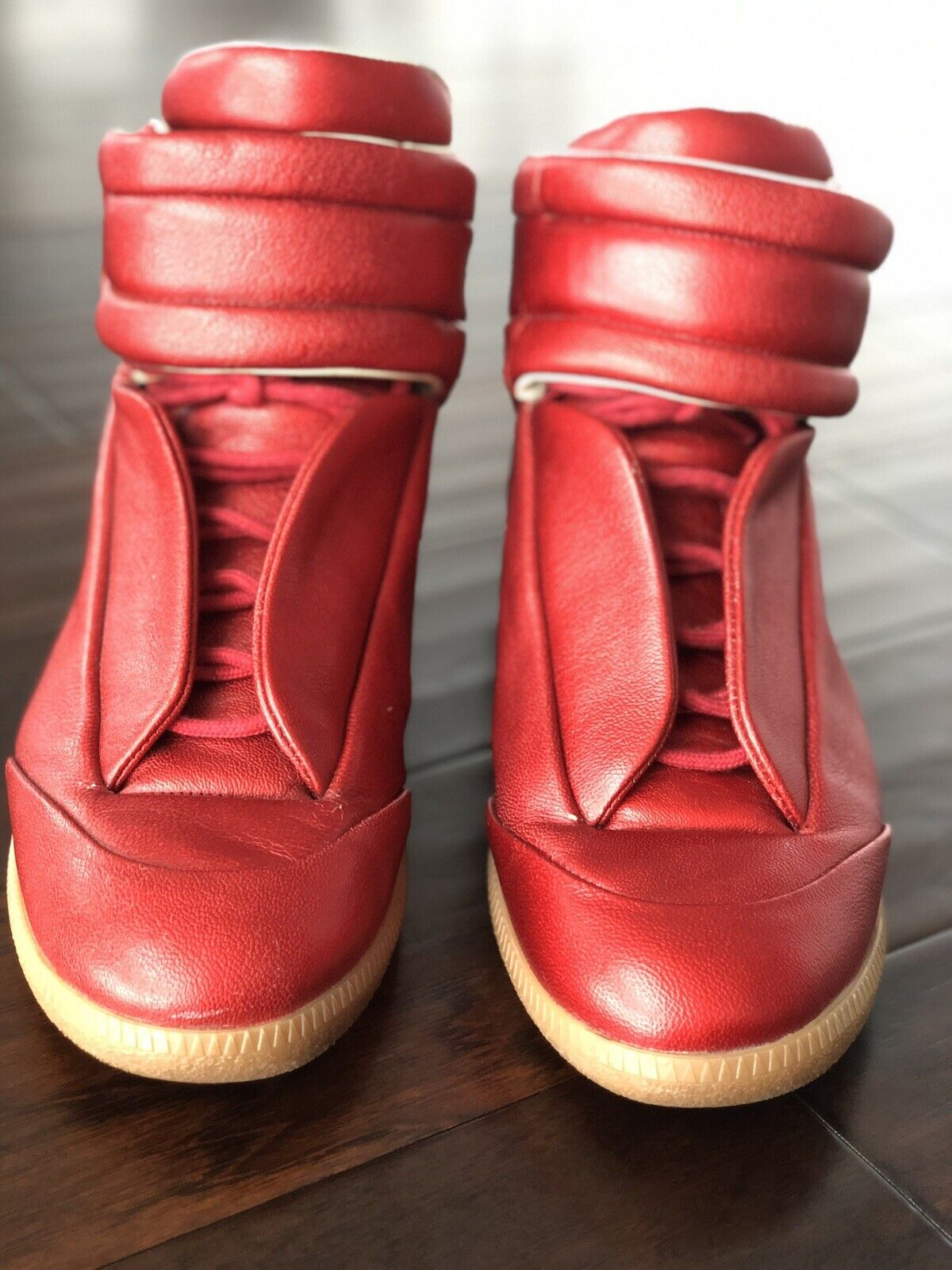 Maison Martin Margiela Future High Top Sneakers Red