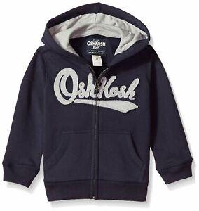 OshKosh Boys Full Zip Logo Hoodie Hooded Sweatshirt