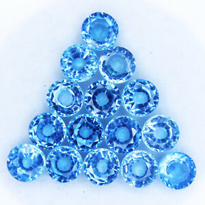 5.00 Ct Natural Blue Tanzanite Round Cut 6 mm Stone GGL Certified 5 Pc