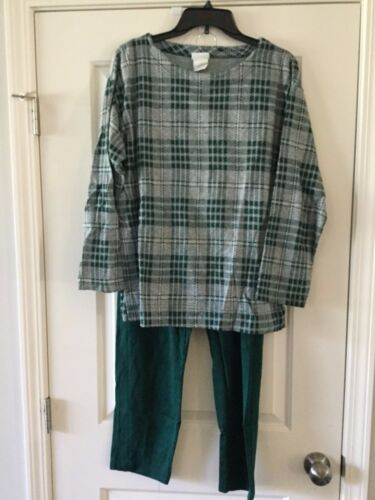 Vintage Womens Bobbie Brooks Pant Suit Plaid Retro