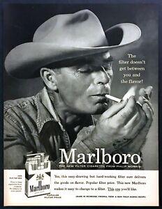 1955-Marlboro-Man-Cowboy-Smoking-photo-Marlboro-Cigarettes-vintage-print-ad