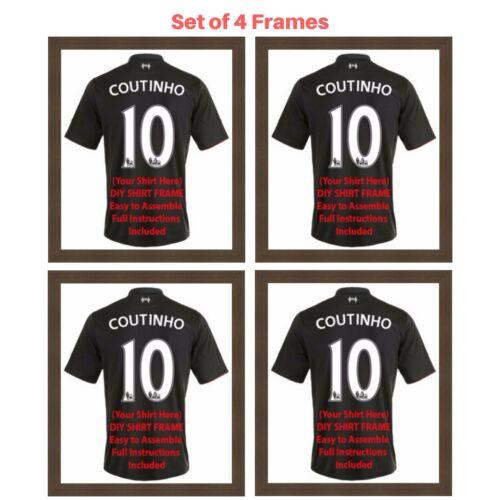 4 x Cadre pour le football rugby et Cricket Chemisesprêts shirt À faire soi-même cadres