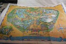 "Disneyland Park 45"" Wall Map Guide 1968 Vintage Poster Magic Kingdom"