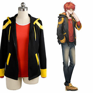 Game Mystic Messenger 707 Luciel Cosplay Costume Hooded Jacket Unisex Coat Tops