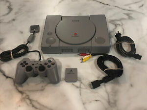Sony Playstation 1 PS1 Console Bundle SCPH-7501 w/ Memory Card & 1 Controller