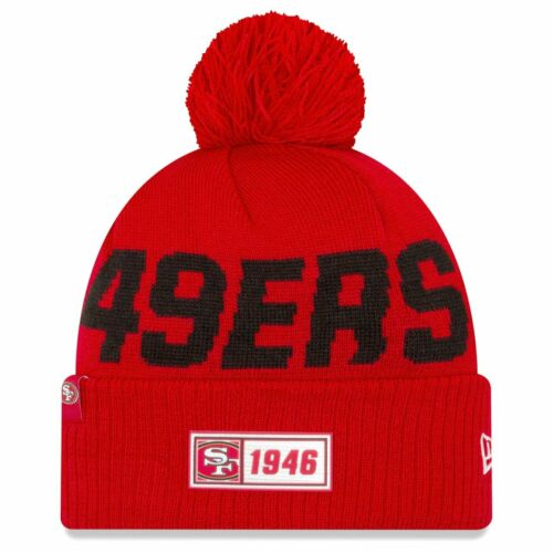 New Era Sideline Road 2019 Bommel Mütze San Francisco 49ers