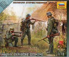 Zvezda 1/72 figuras Infantería Alemana 1939 - 1942 Z6105
