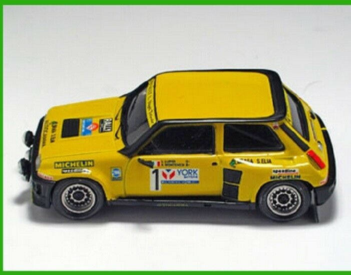 1 43 renault 5 turbo arena miniature mounted sold