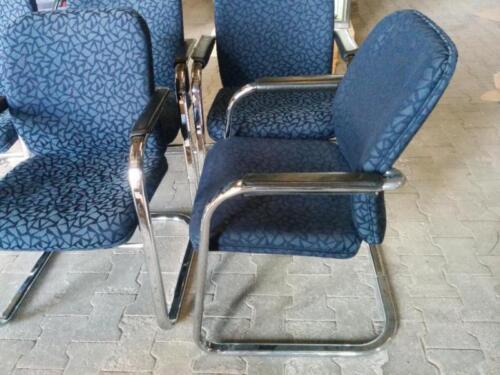 Besucherstühle//Konferebzstühle  Klöber Stoffberzug Blau