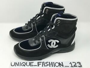 chanel high top trainers