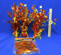 Autumn Fall Leaves Centerpieces & Leaves On Wire Garland Home Decorations Lot 4