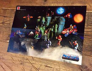 Affiche du Royaume-Uni Mattel Motu - Très Rare 16 He-man Masters Of The Universe Uk Poster Mattel Motu - Very Rare 16