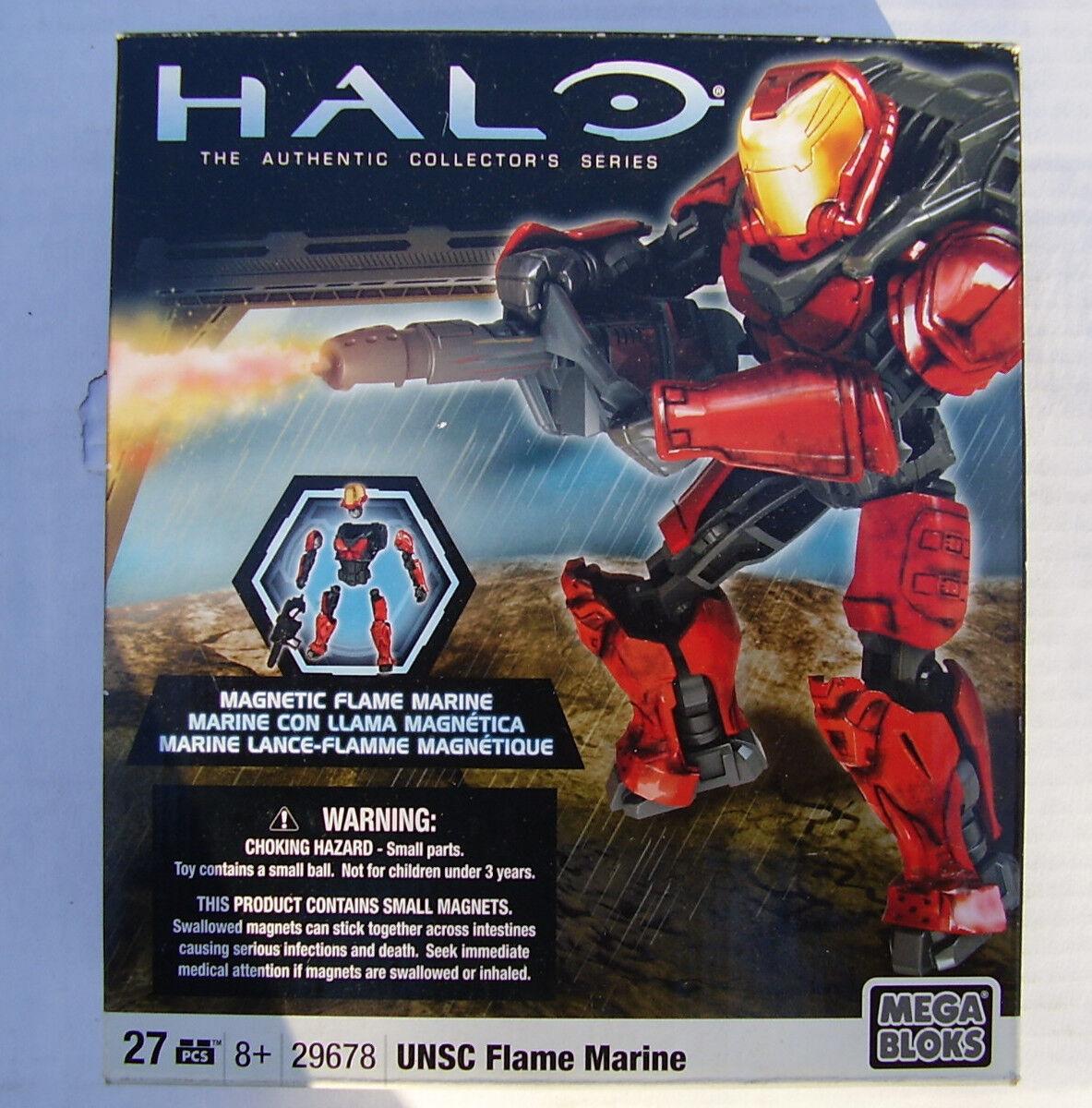 Magnetic UNSC Flame Marine Halo Authentic Bloks Collector Series Mega Bloks Authentic 29678 MI 06c03f