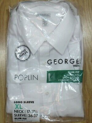 Length NEW MENS White Long Sleeve Dress Shirt ALL Sizes