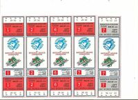 5 1987 Toronto Blue Jays World Series Tickets Sheet of 4 + bonus Phantom