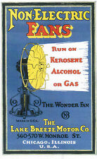 Lake Breeze Hot Air Fan instruction Booklet hit & Miss engine steam sterling gas