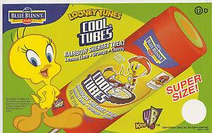 looney tunes tweety bird cool tubes treat ice cream truck decal