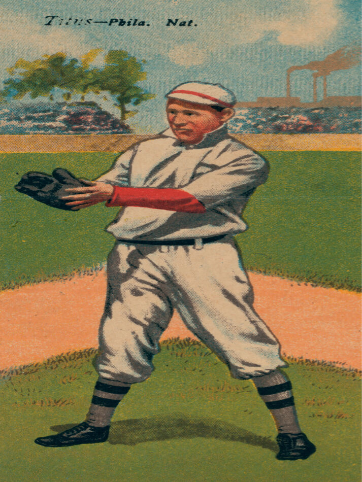 5884.Early Baseball player card POSTER.Sports Home room interior design wall art