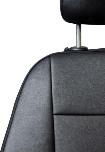 Skoda Rapid Maßgefertigte Kunstleder Sitzbezüge in Schwarz