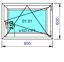 miniature 16 - Finestre in PVC con 2 lastre di vetro termico larghezza: 850 mm scelta l'altezza