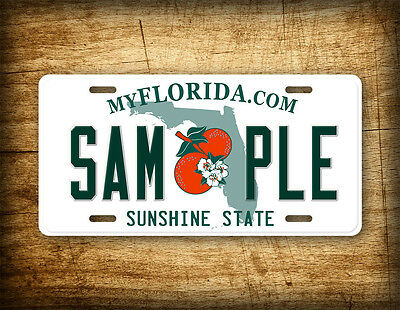 CUSTOM FLORIDA License Plate Customized Personalized Auto Tag Sunshine State FL