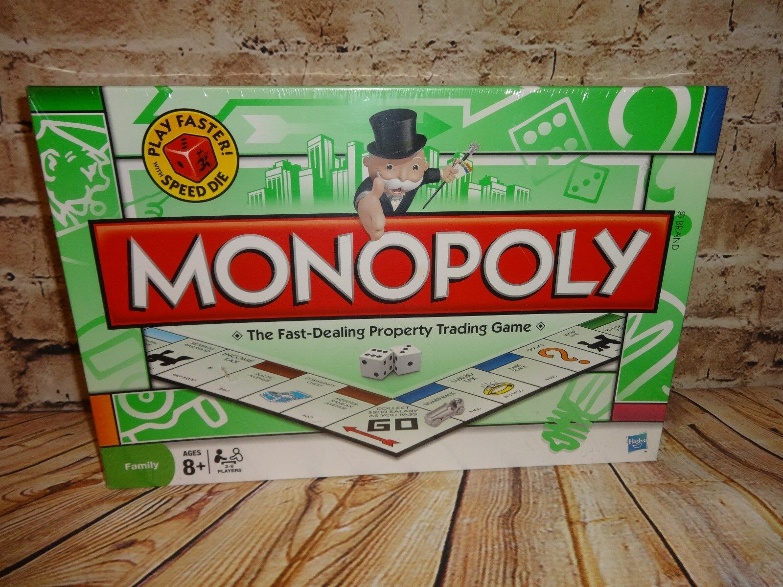 Monopoly 2008 Speed Play Parker Bredhers Includes Speed Die NEW SEALED Family