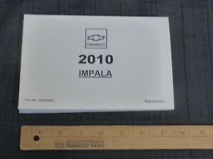 2010-Chevrolet-IMPALA-Car-Owners-Manual-New-GM-Reprint