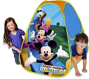 Image is loading Kids-Pop-Up-Tent-Disney-Mickey-Mouse-&-  sc 1 st  eBay & Kids Pop Up Tent Disney Mickey Mouse u0026 Friends Hut Hideaway ...