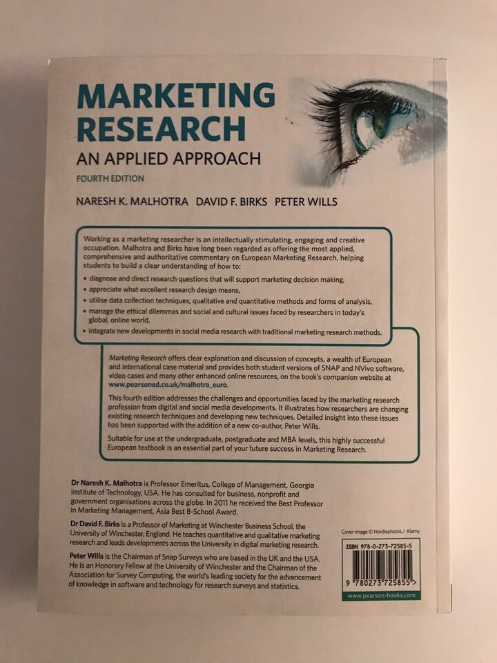 Marketing Research an applied approach, Naresh K.
