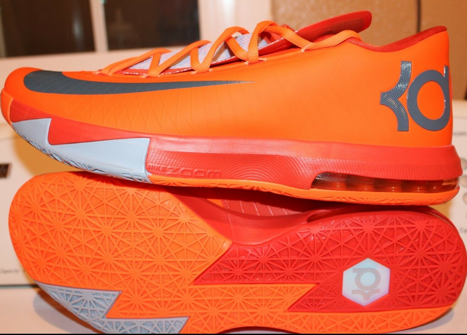 NIKE KD VI 6 NYC 66 SZ: 13.0 ORANGE KEVIN DURANT NEW RARE AUTHENTIC BASKETBALL