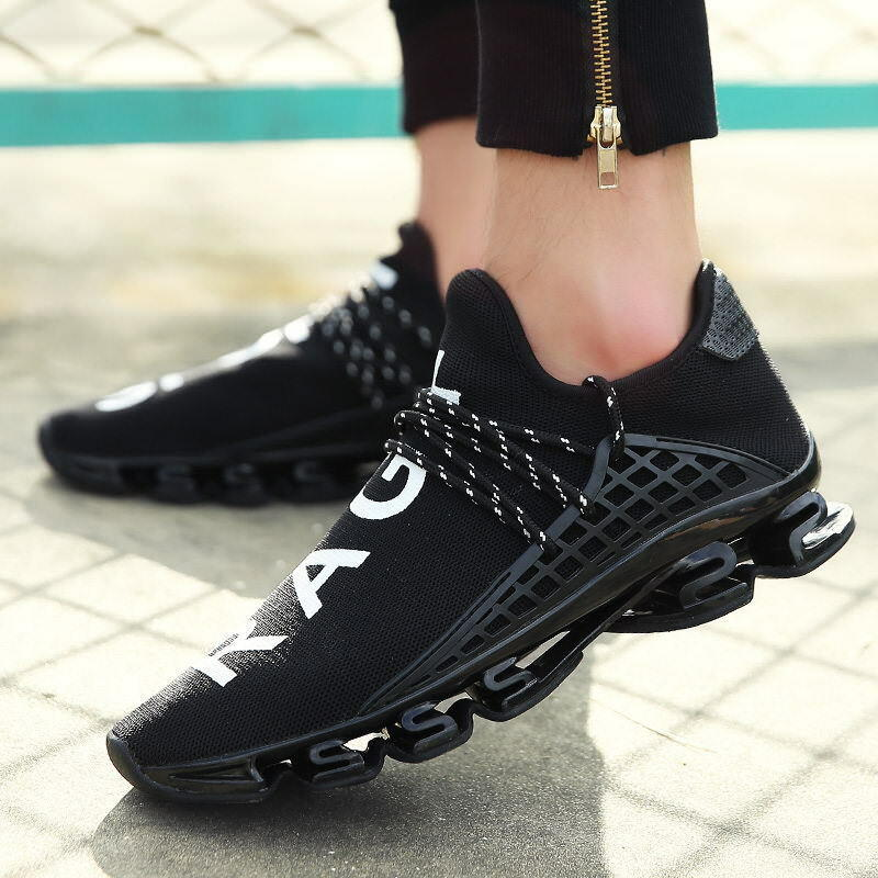 Mens Running shoes Outdoor Athletic Breathable Sport shoes Lace-up Sneakers