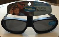 Solar Shield Polarized Fits Over - Sport - Vented - Black With Gray - Size M/l