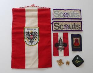 Job-lot-of-vintage-scouts-badges-pennants-Gibraltar-Sea-Scouts-etc