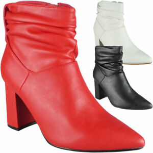 Women-Ladie-Pointy-Ankle-Boots-Bootie-Winter-High-Heel-Fashion-Casual-Shoe-Sizes