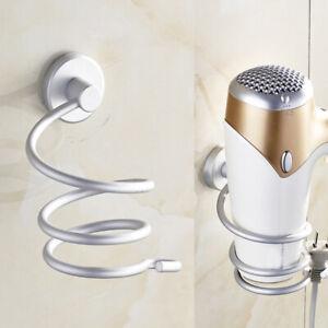 Wall-Mount-Hair-Blow-Dryer-Holder-Bathroom-Storage-Spiral-Blower-Stand-Holder