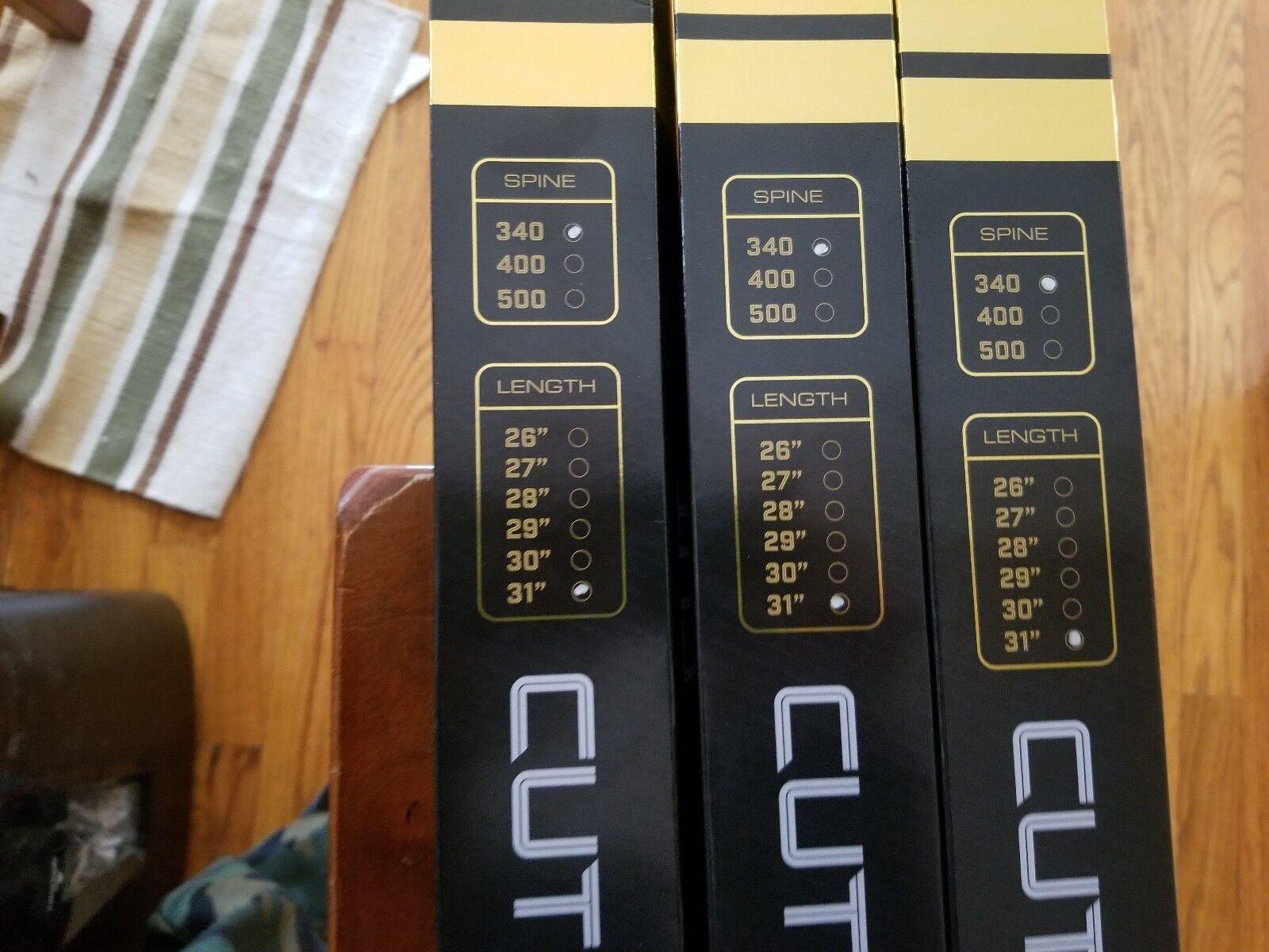 "LOT 12 GOLD TIP ARROWS Cut Down 340 2/"" RAPTOR VANES 31/"" CUT34031W2 3 BOX of 4"