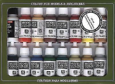 Vallejo Model color American Revolution set - 16 paints
