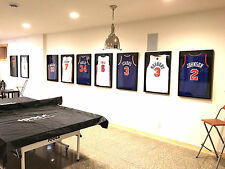 jersey frame, jersey framing, jersey frames,  football jersey display case black