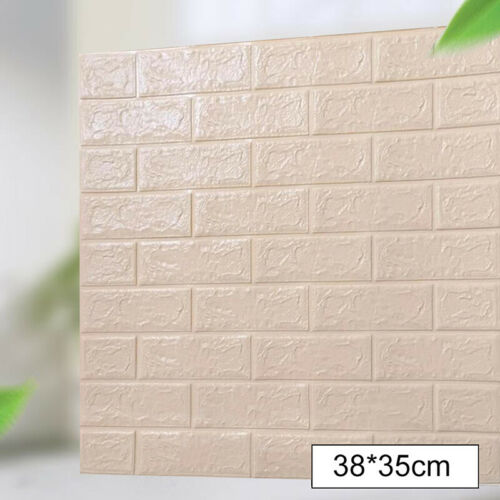 Waterproof 3D Tile Brick Stone Wall Sticker Foam Panel Self Adhesive Home Decor