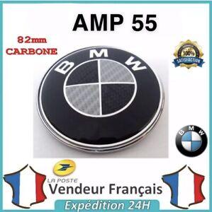 LOGO-EMBLEME-SIGLE-BMW-CARBONE-NOIR-amp-BLANC-82mm-CAPOT-COFFRE-M-PERFORMANCE-FR