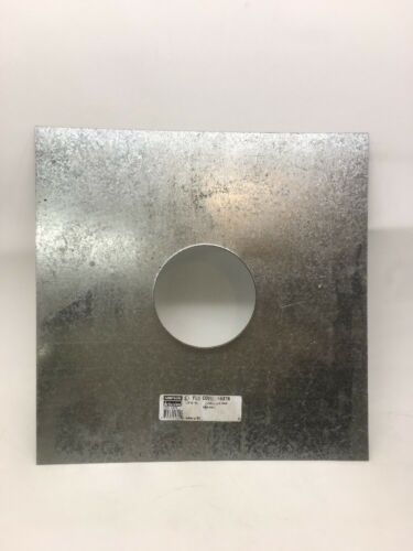 """Details about  /Stainless Steel 5/"""" Stove Pipe Plate Flange Escutcheon 16/"""" X 16/""""  24 GAUAGE Liner"""