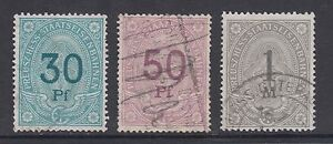 Germany 3 diff used Railways stamps, VF