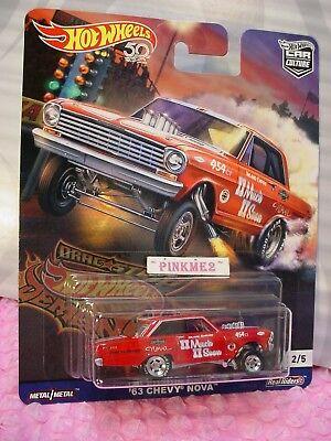 /'66 SUPER NOVA Gasser☆Blue Chevy☆2018 Hot Wheels DRAG STRIP DEMONS Car Culture