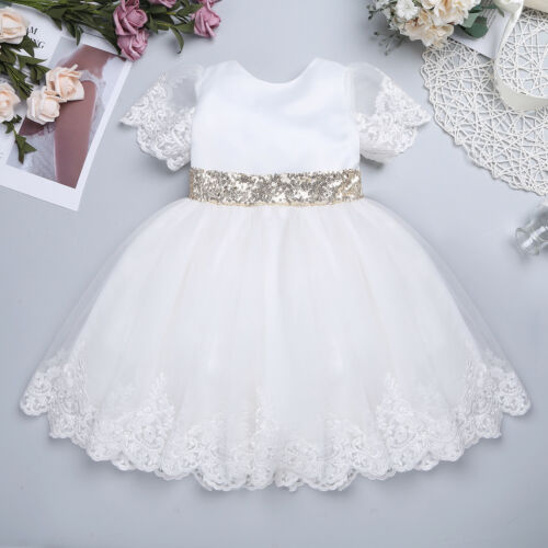 Flower Girl Princess Dress Baby Toddler Party Wedding Bridesmaid Tutu Dresses