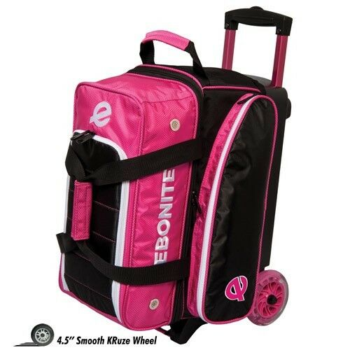 Ebonite Eclipse Double Roller 2 Ball Bowling Bag Pink